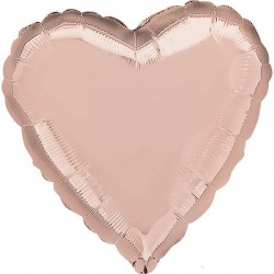 А 18 Сердце Роза Голд в упаковке / Rose Gold Decorator Heart S15 / 1 шт (США)