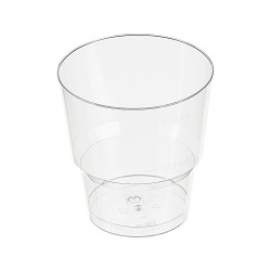 Стакан д/хол., 0.20л, кристалл, ПС, прозрачный 8 шт