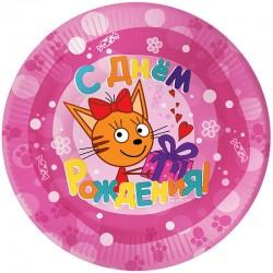 Шар Круг Три Кота Розовый 48см