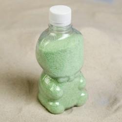 Песок цветной в бутылках Бледно-салатовый 500гр
