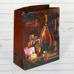 Пакет ламинированный Успеха и процветания 11×14×5,5см
