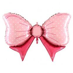 Шар Фигура Бант розовый 108см