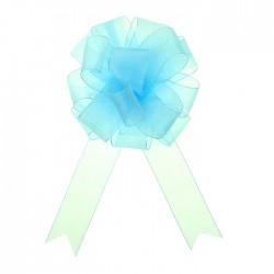 Бант-шар №5 органза, голубой 828228