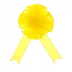 Бант-шар №5 органза, жёлтый 828227