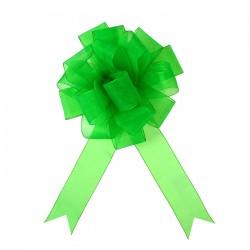 Бант-шар №5 органза, зелёный 828223