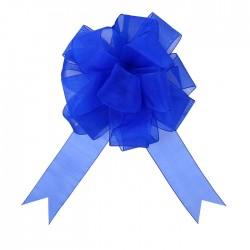 Бант-шар №5 органза, синий 828218