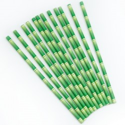 Трубочки для коктейлей Бамбук, 12 шт