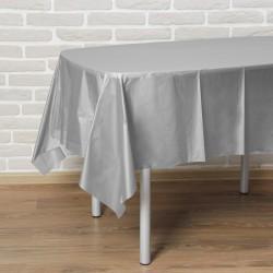 """Скатерть 137*183 см """"Праздничный стол"""", цвет серебро 3520052"""