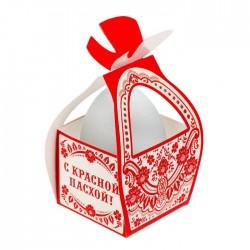 """Коробочка подарочная для яйца """"С красной пасхой!"""" 13,4*26,2 см 1746988"""