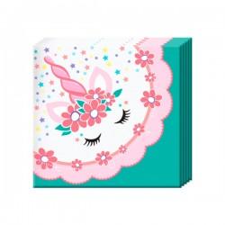P 24х24 Салфетки Единорог Pink&Tiffany 12шт