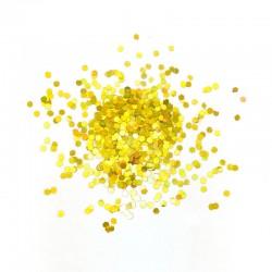 Глиттер Блестки лазерный золотой 3мм 100гр