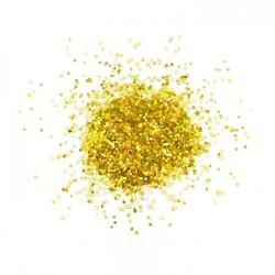 Глиттер Блестки лазерный золотой 6мм 100гр