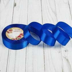 Лента атласная АртУзор синий 20мм 23м