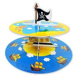 Стойка д/кексов 2 яруса Пират