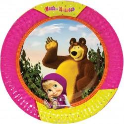 Тарелка бум Маша и Медведь 23см