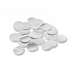 Конфетти Круги серебряные фольгированные 3см 500гр