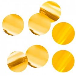 Конфетти Круги золотые фольгированные 3см 500гр