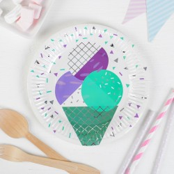 Тарелка бумажная Мороженое 18см 6шт