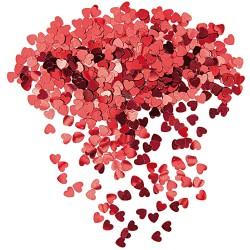 Q Конфетти фольгированное Сердца красные 14гр