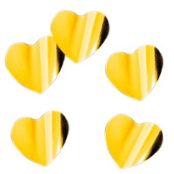 Конфетти фольгированное Сердца золотые 14гр
