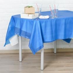 Скатерть Праздничный стол синий 137х183см