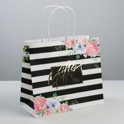 Пакет подарочный крафтовый Gifts, 25 × 22 × 12 см 3823500