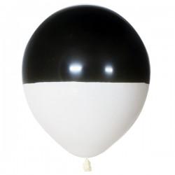Шар Пастель Bicolor BLACK & WHITE 30см 25шт