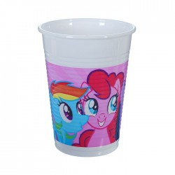 """P Стаканы пластиковые 200 мл """"Моя маленькая Пони - 2"""" / Pony & Friends / набор 8 шт. / (ЕС)"""