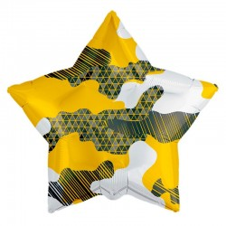 Шар Звезда Камуфляж абстрактный 53см