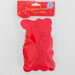 Сердечки декоративные (набор25 штук) 5 см, цвет красный 1195956