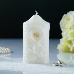 """Свеча свадебная """"Камея"""", белая, 6×11 см 4385198"""