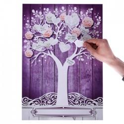 """Дерево пожеланий с наклейками """"Цветы"""", 33 х 47,6 см 3479839"""