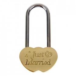 Замочек свадебный Just Married 7х4см