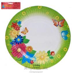 Набор тарелок Цветы и бабочки 18см 6шт