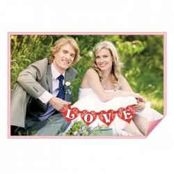 "Буквы для фото на ленте ""LOVE"" (цв. красный), 12,5 х 12,3 см 1221260"