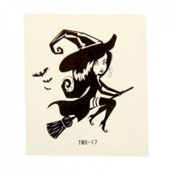 "Татуировка на тело ""Ведьма на метле"" 5,3х6,3 см 1252314"