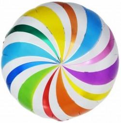 Шар Круг Разноцветный леденец 48см