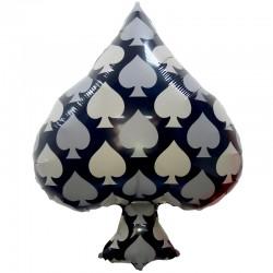 Шар Фигура Карточная масть: пики Черный 66см