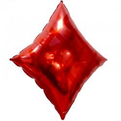 Шар Фигура Карточная масть: бубны, Красный 61см