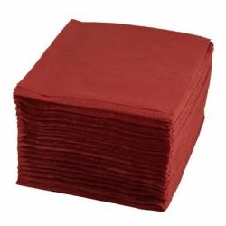 Салфетки 24*24 1сл, бордовые, 500шт в уп.