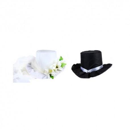 Шляпа Н33-04-0403 на крышу (набор 2шт) шампань/бел 48х25см