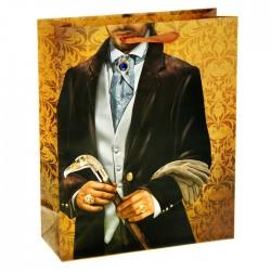 Пакет ламинированный вертикальный (стразы) «Граф», 26 × 32 см 812766