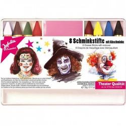 Набор грим-карандашей Клоун 6 цветов Германия