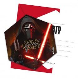 """P Приглашения """"Звездные войны"""" / Star Wars The Force Awakens / набор 6 шт. / (Китай)"""