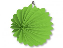 Фонарик бум круглый светло-зеленый 25см