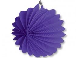 Фонарик бум круглый фиолетовый 25см/G