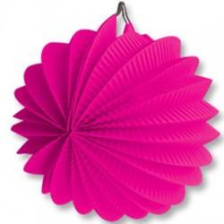 Фонарик бум круглый ярко-розовый 25см/G