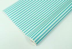 Упаковочная бумага Крафт 70гр (0,5 х 10 м) Полосы, Мятный / Белый, 1 шт