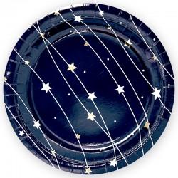 Тарелки (7''/18 см) Звездная траектория, Черный, 6 шт.