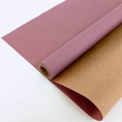 Крафт-бумага упаковочная вержированная однотонная Лавандовая / рулон 70 см * 10 м, 40 гр/м.кв (Росси